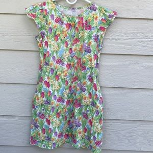 UniQlo floral jersey dress with pockets sz 10